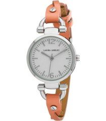 laura ashley orange ladies' dial analog display twisted band round watch
