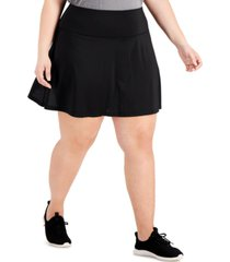 ideology plus size perforated skort, created for macy's