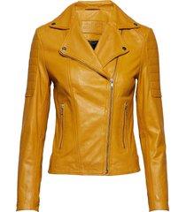 biker jacket leren jack leren jas geel depeche