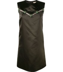 christian dior 1960's pre-owned structured dress - brown