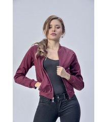 chaqueta bomber dama vinotinto di bello jeans  classic jackets ref c003