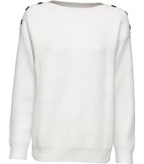 maglione oversize con bottoni (bianco) - bodyflirt