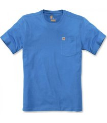 carhartt t-shirt men southern s/s pocket bolt blue-s