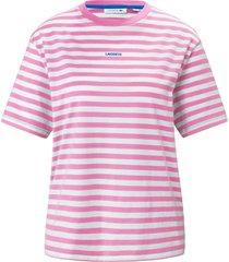 shirt 100% katoen ronde hals van lacoste lichtroze
