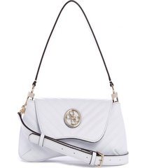 cartera blakely shoulder bag blanco guess