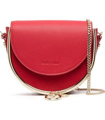 see by chloé gold-tone hardware detail crossbody bag - red