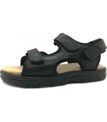 sandalia negra febo super confort