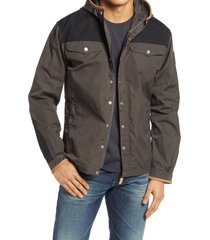 men's fjallraven greenland no.1 special edition water resistant hooded jacket, size x-large - black