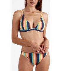 bikini admas 2-delig driehoekige bikiniset stripes color