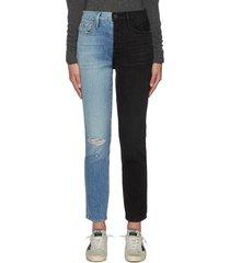 le sylvie' contrast panel denim skinny jeans