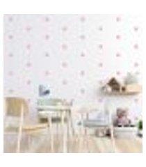 adesivo decorativo de parede - kit com 85 flores - 013kac14