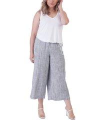 black tape plus size cropped wide-leg pants
