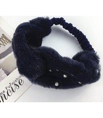 womens velluto perla vogue confortevole copricapo da viaggio casuale fascia per capelli