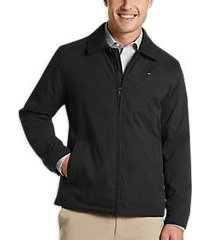 tommy hilfiger black modern fit microtwill casual jacket