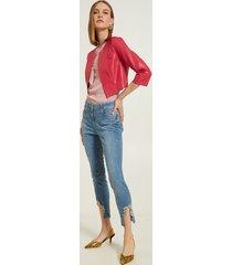 motivi jeans skinny push up modello gisele con pietre donna blu