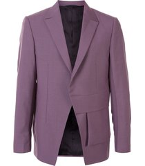 1017 alyx 9sm structured asymmetric blazer - purple