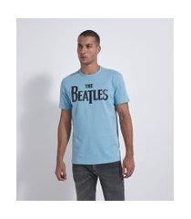 camiseta com estampa the beatles   the beatles   azul   m