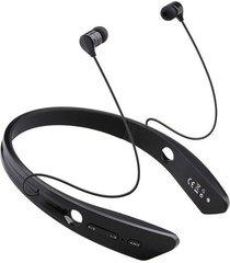 audífonos bluetooth manos llibres inalámbricos, bm-170 deportes audifonos bluetooth manos libres  auricular cuello headset para el teléfono (negro)