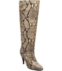 zendaya snake print boot höga stövlar beige tommy hilfiger