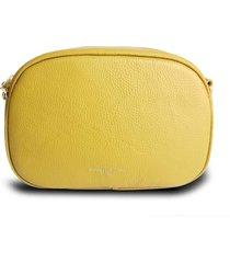 bolsa pochete transversal house of caju couro alta qualidade prática mostarda