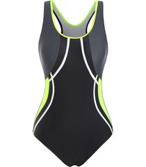 colorblock racerback cutout one-piece swimsuit