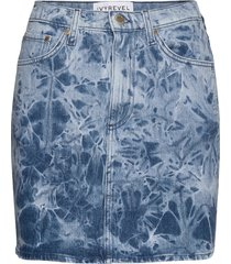denim mini skirt kort kjol blå ivyrevel