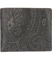 etro printed wallet