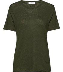 ninja linen t-shirts & tops short-sleeved groen rodebjer