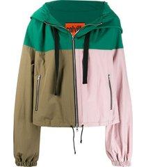 colville paneled colour block jacket - green