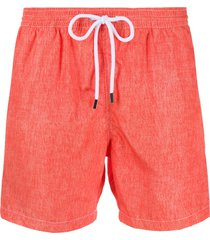 barba mid-rise swimming shorts - orange