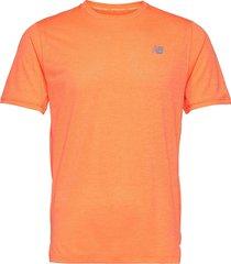 impact run ss t-shirts short-sleeved orange new balance