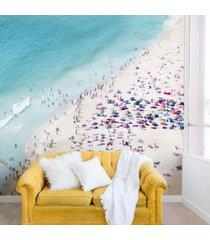 deny designs ingrid beddoes beach summer fun 8'x8' wall mural