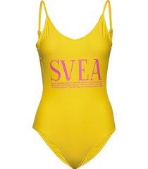 bora bora swimsuit baddräkt badkläder gul svea