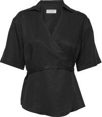 nadinia blouses short-sleeved zwart tiger of sweden