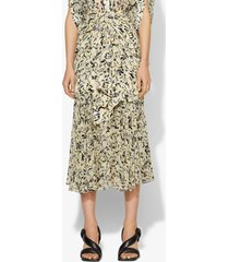 proenza schouler abstract animal print layered skirt butter/black abstract animal/yellow 8