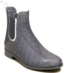 women's jack rogers sallie chelsea waterproof rain waterproof bootie, size 9 m - grey