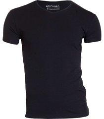 bodyfit t-shirt v-neck black