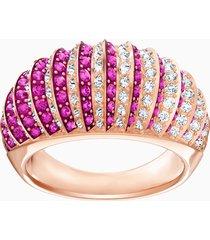 anello luxury domed, rosa, placcato oro rosa