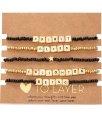 rachel rachel roy gold-tone 5-pc. set enlighten beaded stretch bracelets