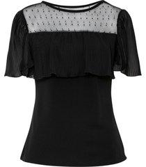 maglia con mesh (nero) - bodyflirt boutique