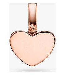 mk ciondolo a cuore in argento sterling con placcatura in metallo prezioso - oro rosa (oro rosa) - michael kors
