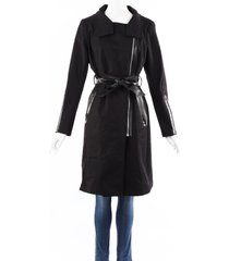 mackage belted trench coat black sz: l