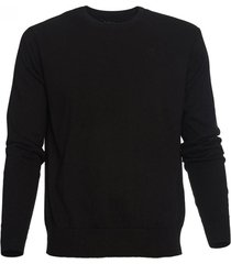 sweater cuello redondo negro mcgregor