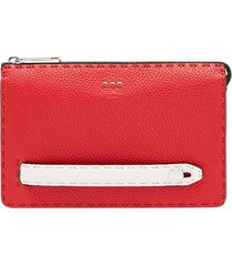 fendi slim clutch bag - red
