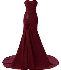 criss cross chiffon long mermaid prom dress corset evening party gowns burgundy