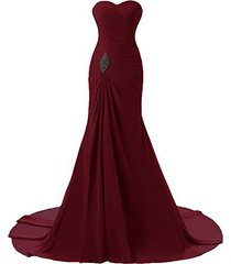 criss cross chiffon long mermaid prom dress corset evening party gowns burgundy