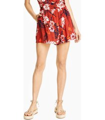 bar iii floral-print shorts, created for macy's