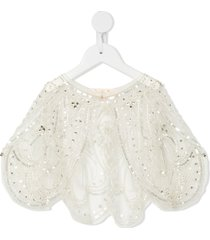 tutu du monde butterfly effect tulle cape - white