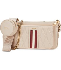 bally women's deenah leather crossbody bag - beige