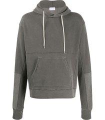john elliott relaxed-fit panelled hoodie - grey